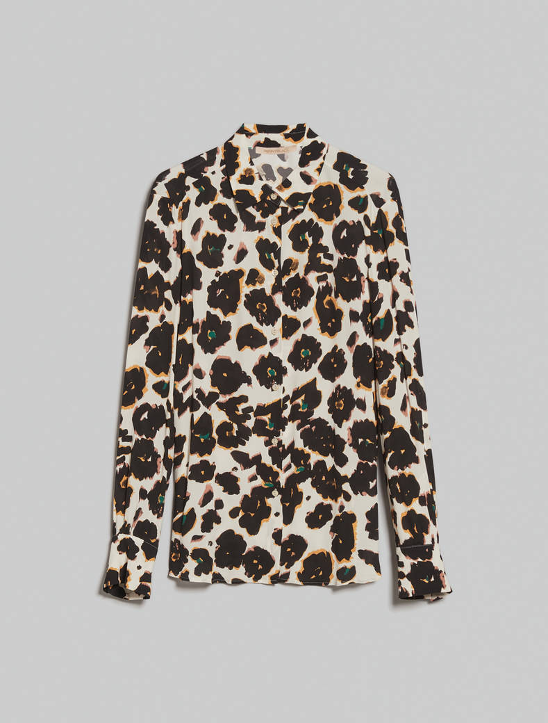 Crêpe de Chine shirt - beige pattern - pennyblack