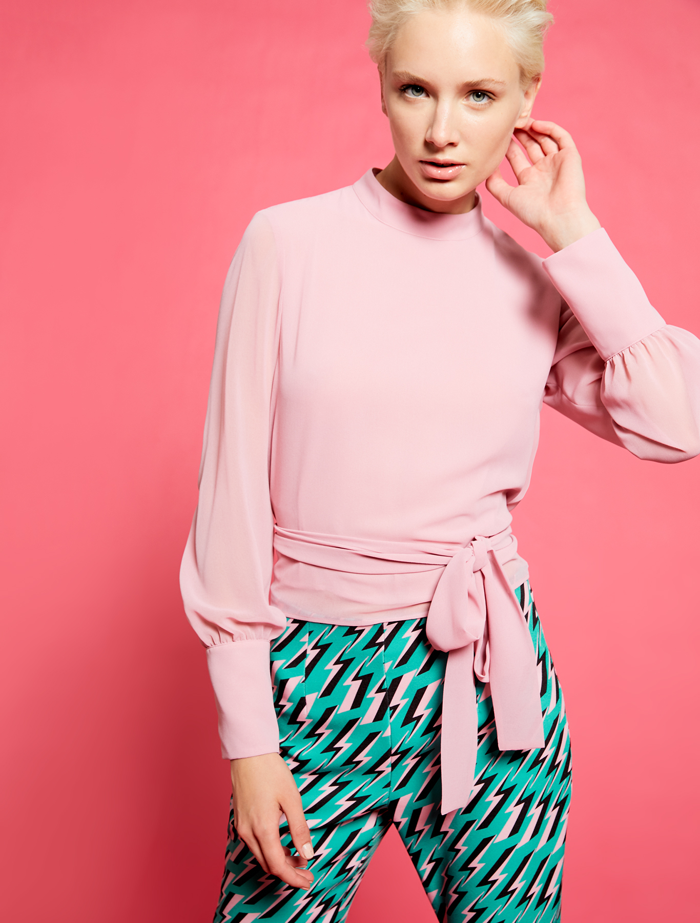Electric Feel by Spiros Halaris Georgette blouse - pink - pennyblack