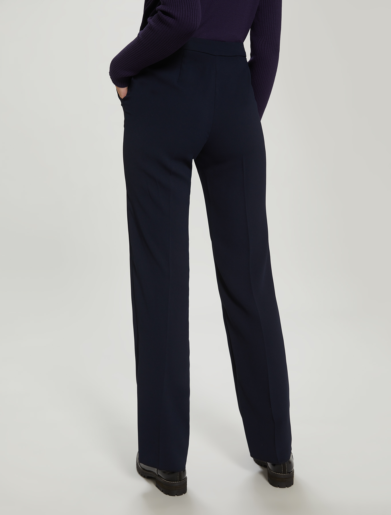 Envers satin trousers - navy blue - pennyblack