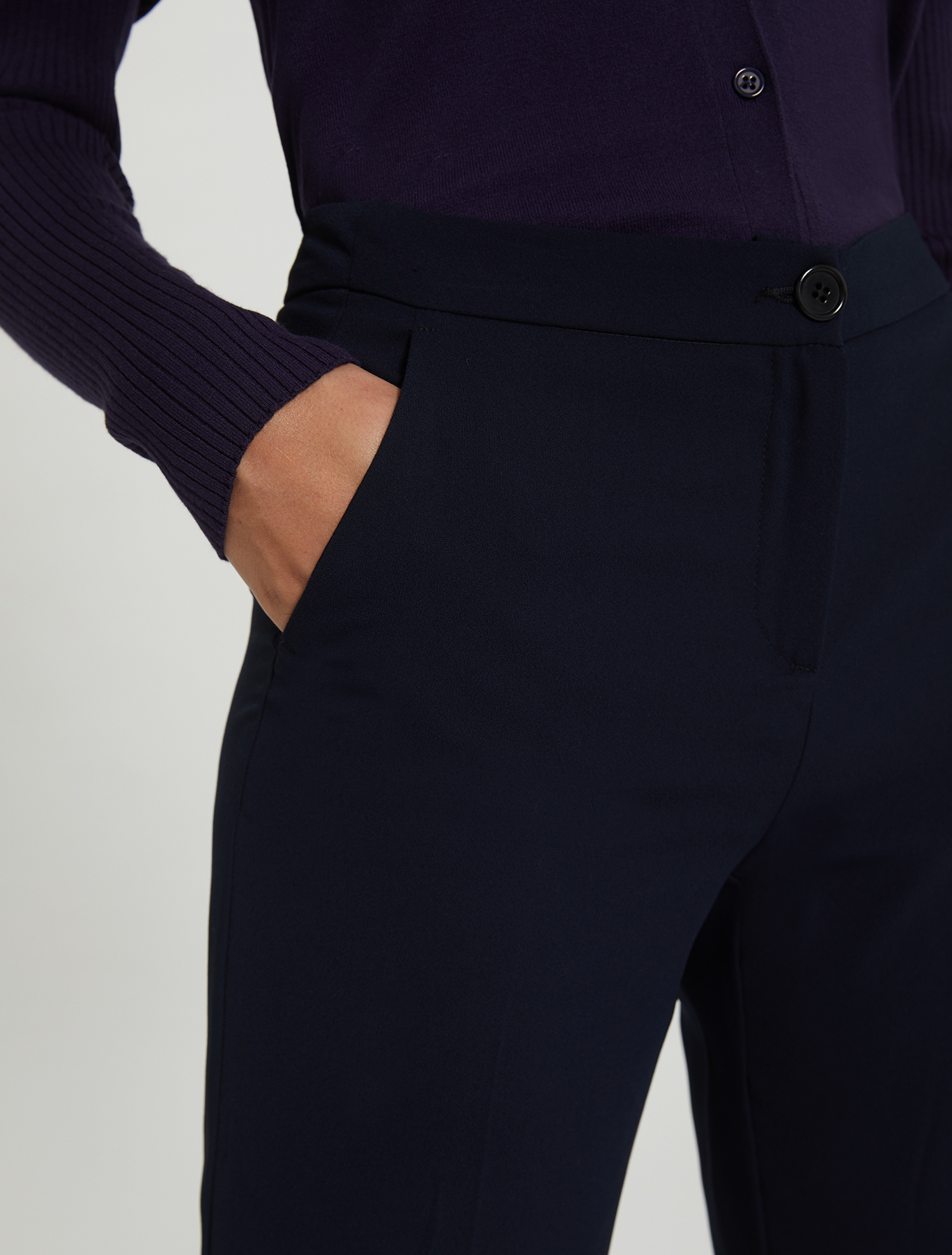 Envers satin trousers - navy blue - pennyblack