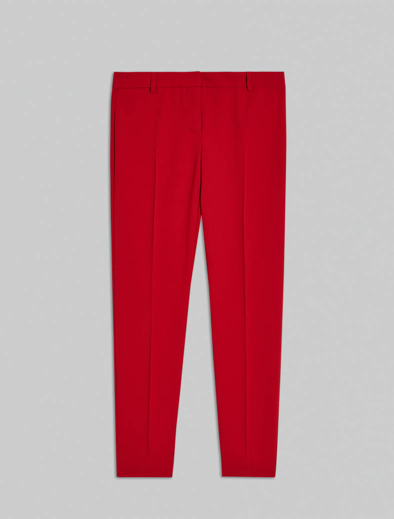 Slim-fit trousers in envers satin - old rose - pennyblack