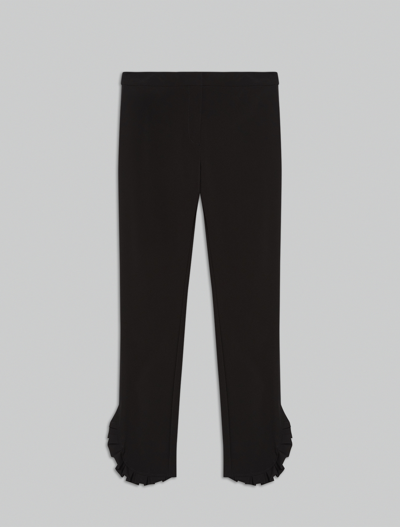 Slim-fit ruched trousers - black - pennyblack