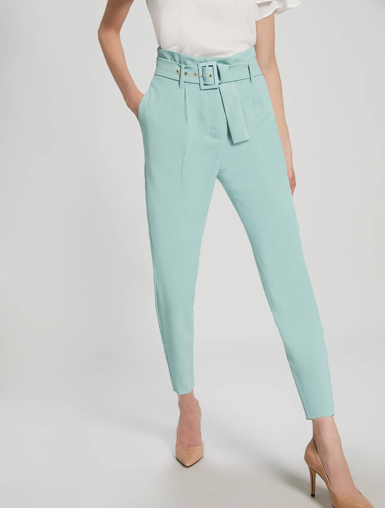 Envers satin trousers - pastel green - pennyblack