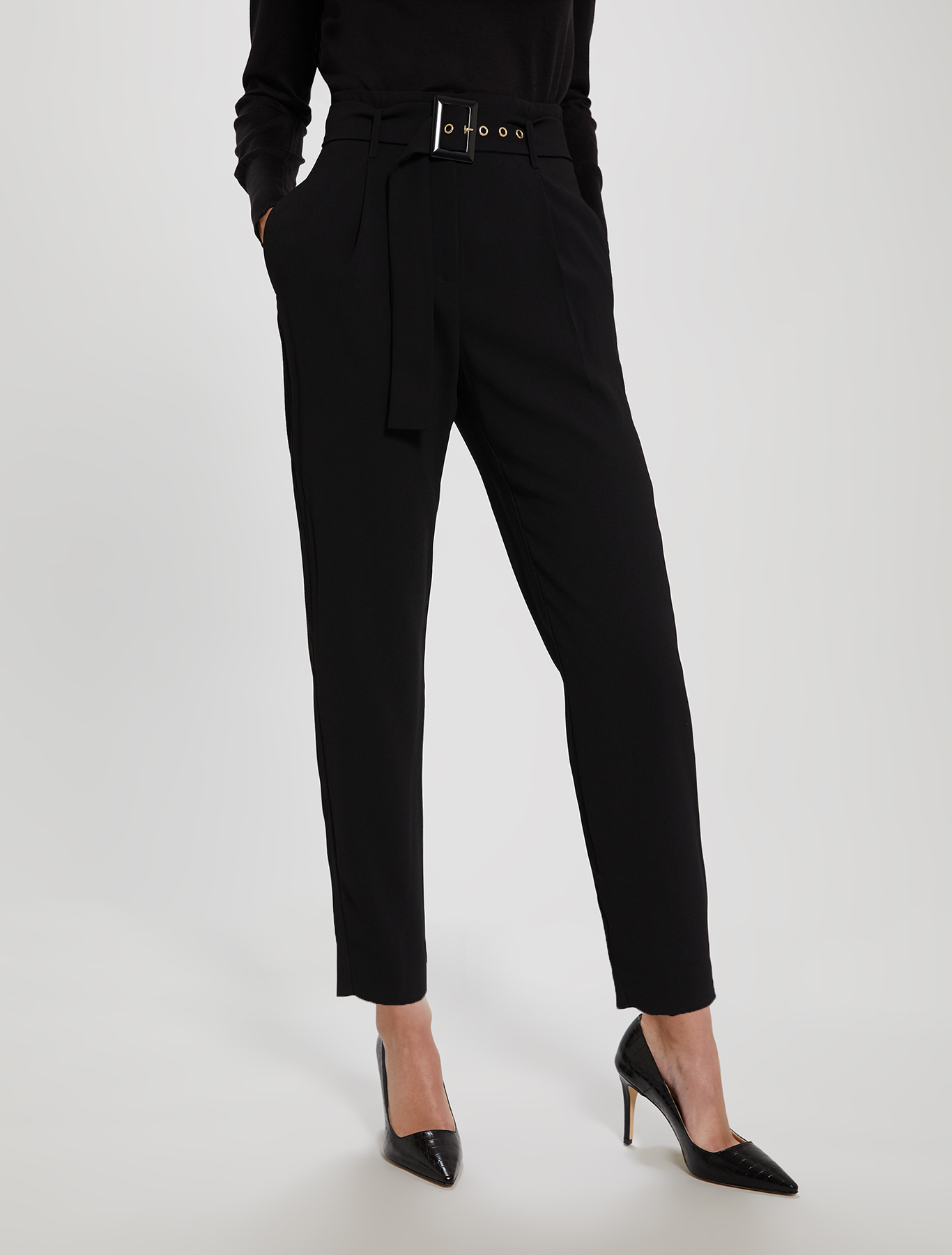 Envers satin trousers - black - pennyblack