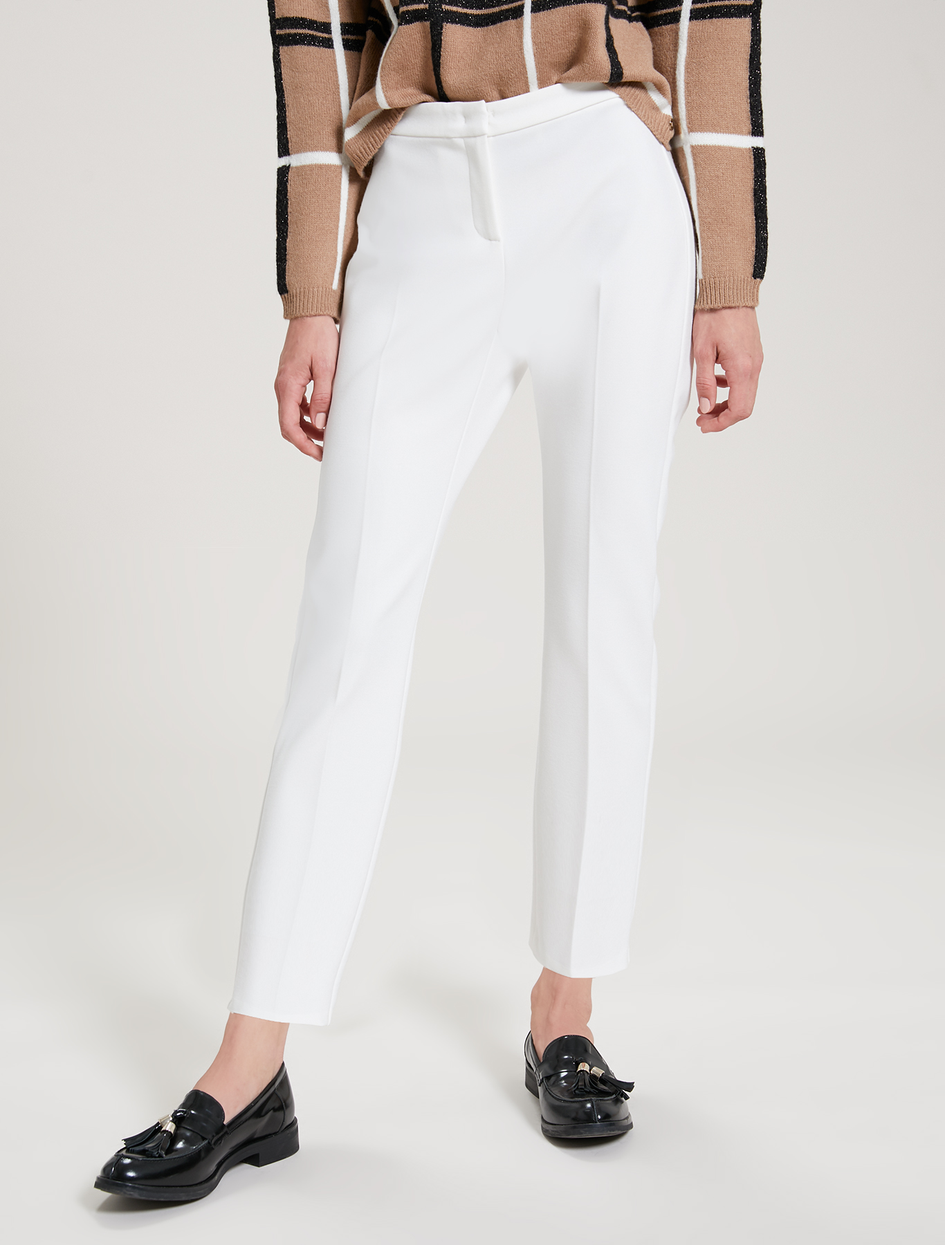 Ankle-length trousers - ivory - pennyblack
