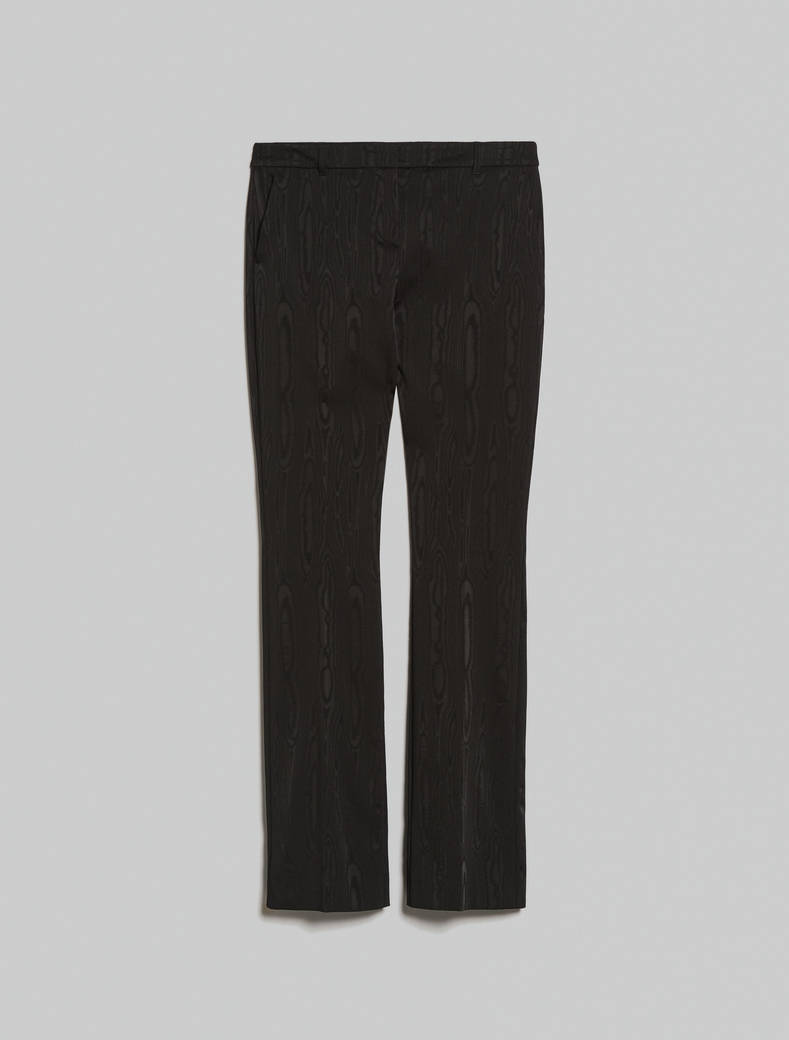 Moiré trousers - black - pennyblack