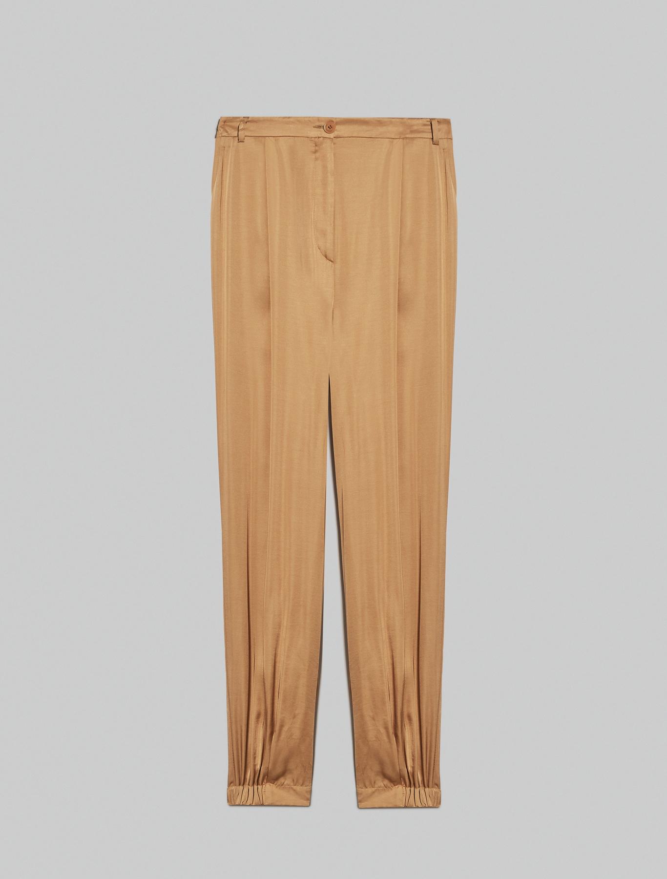 Satin joggers - camel - pennyblack