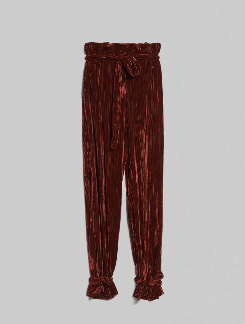 3D velvet trousers - cocoa - pennyblack