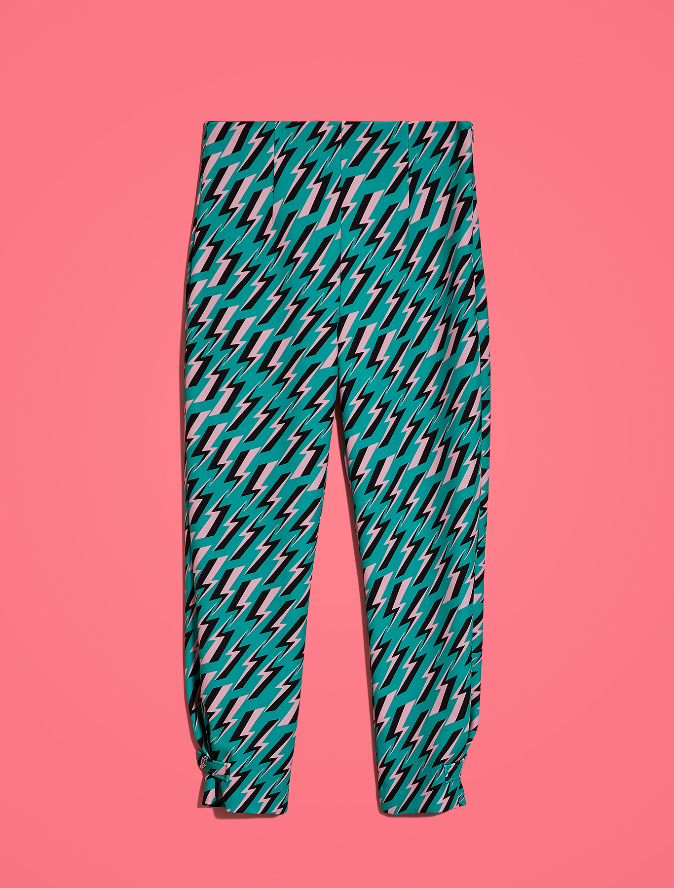 Electric Feel by Spiros Halaris slim-fit trousers - green pattern - pennyblack