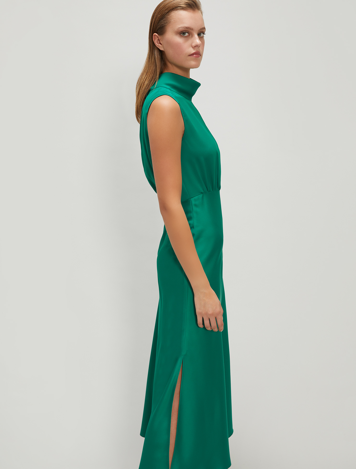 Envers satin dress - emerald green - pennyblack