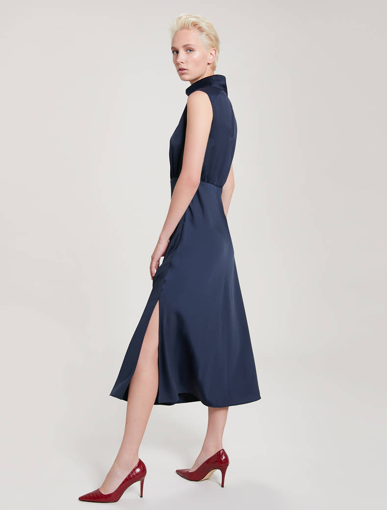 Envers satin dress - navy blue - pennyblack