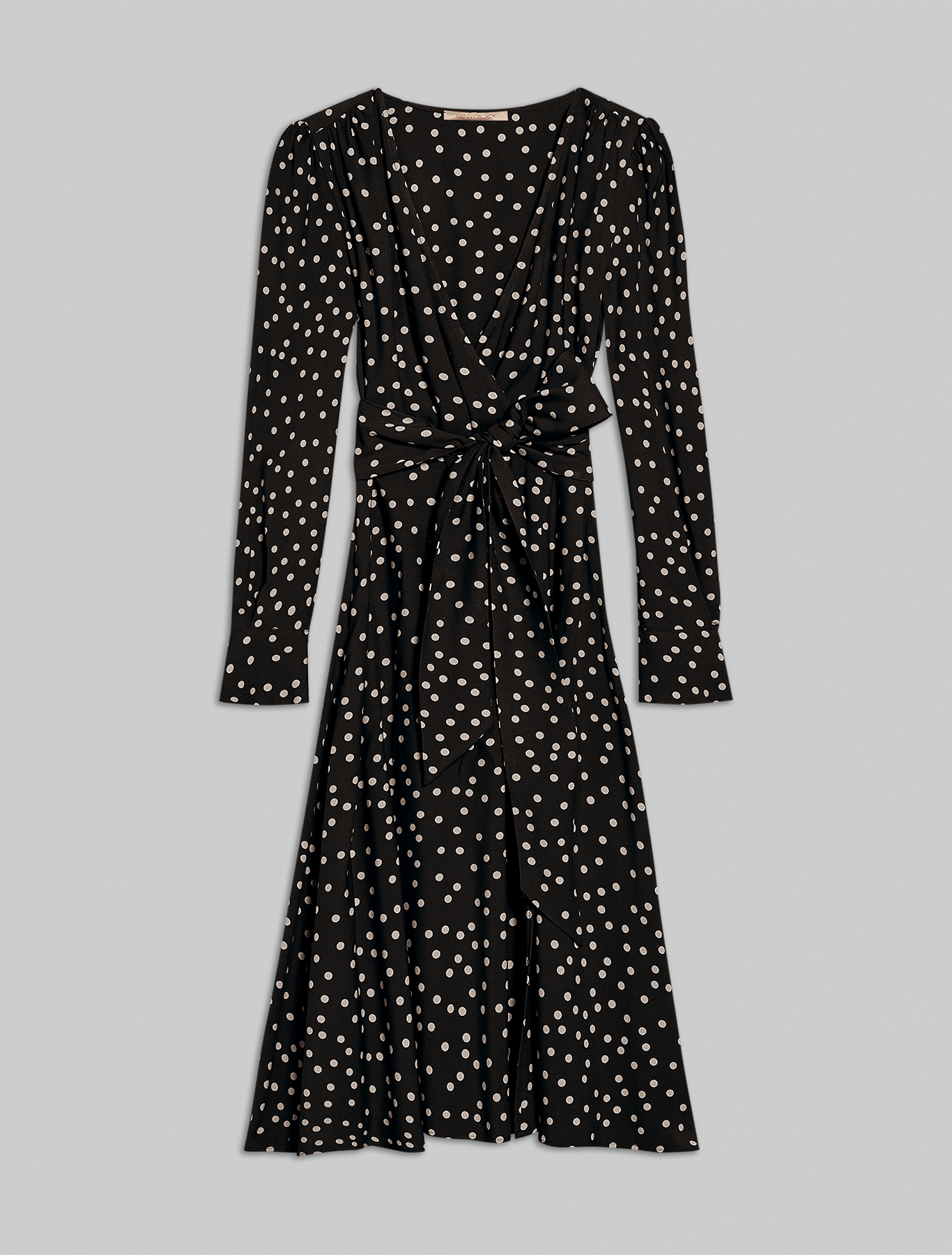 Polka dot sablé dress - black pattern - pennyblack