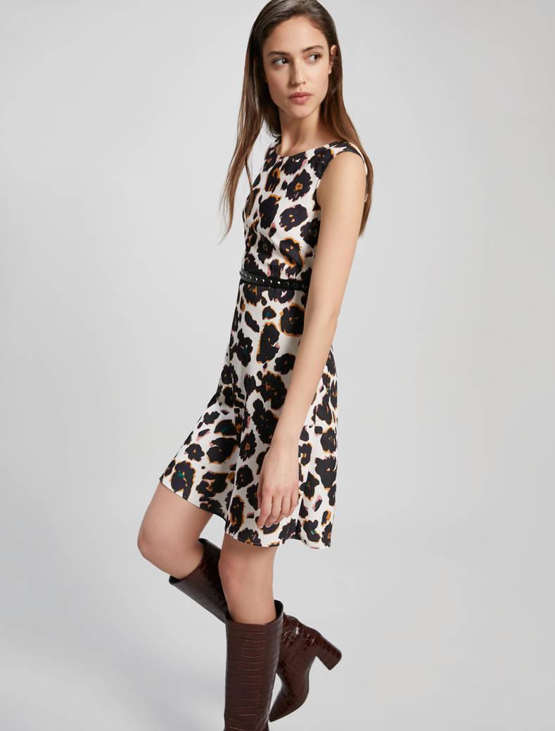 Camouflage print dress - beige pattern - pennyblack