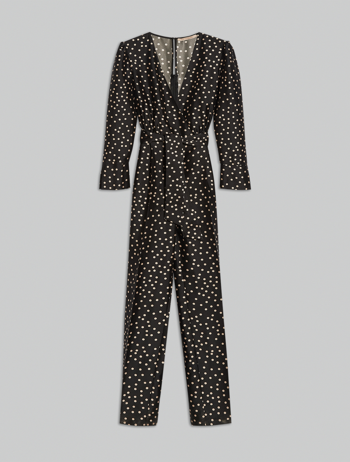 Printed twill jumpsuit - black pattern - pennyblack