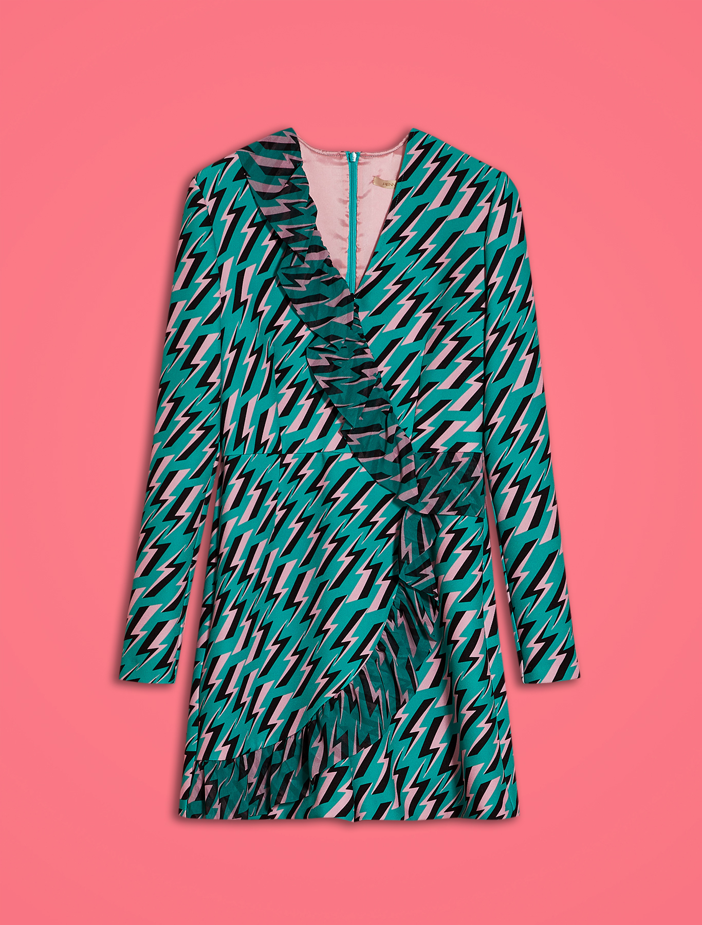 Electric Feel by Spiros Halaris mini jumpsuit - green pattern - pennyblack