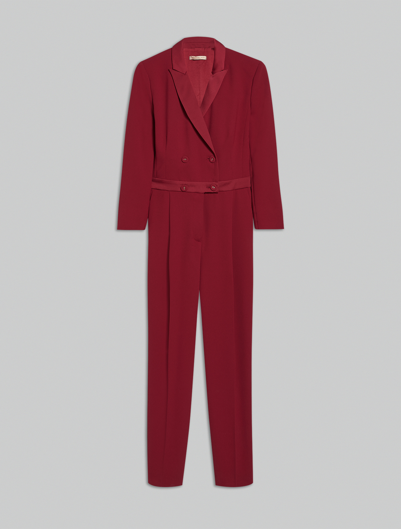 Envers satin jumpsuit - burgundy - pennyblack