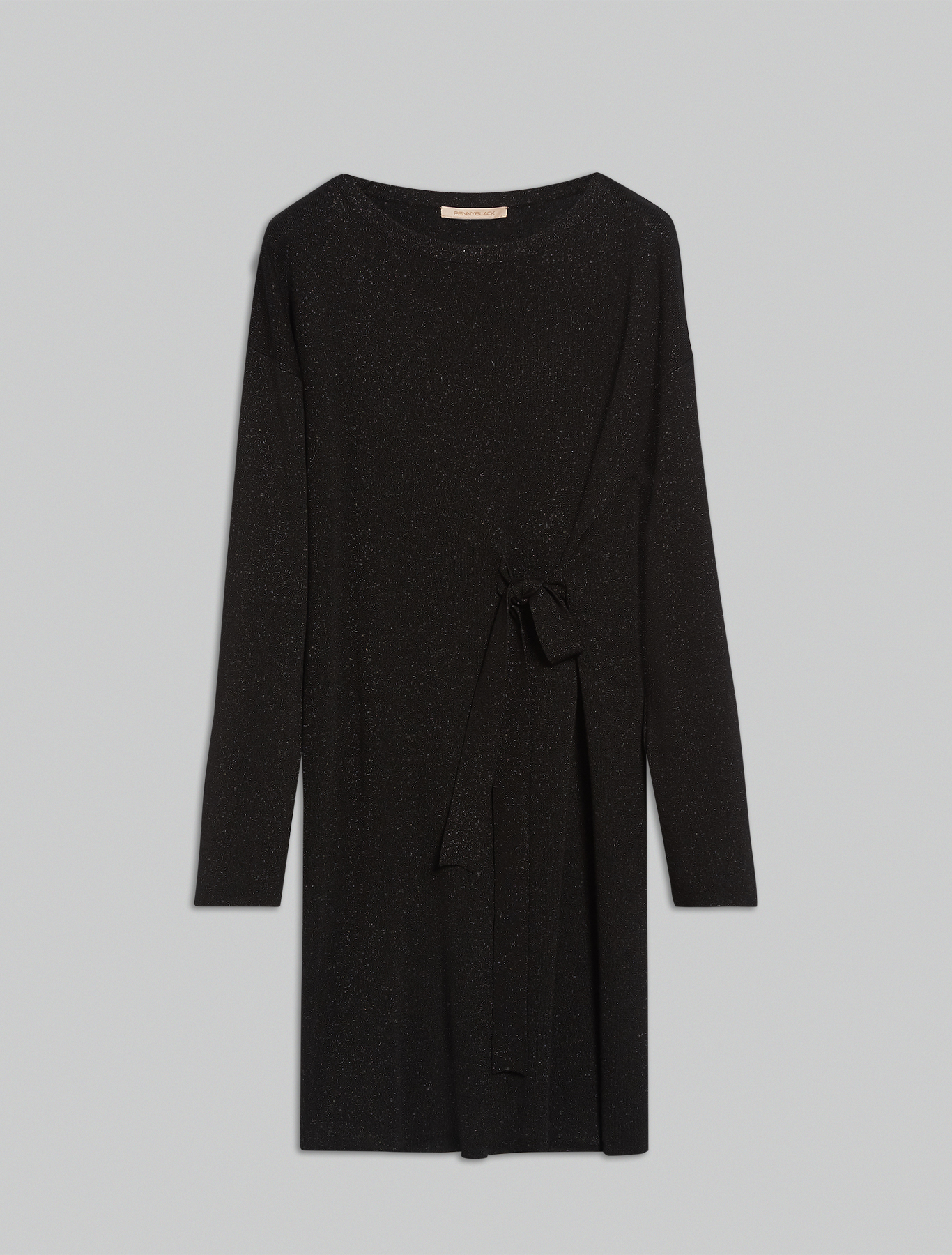 Lamé knit dress - black - pennyblack