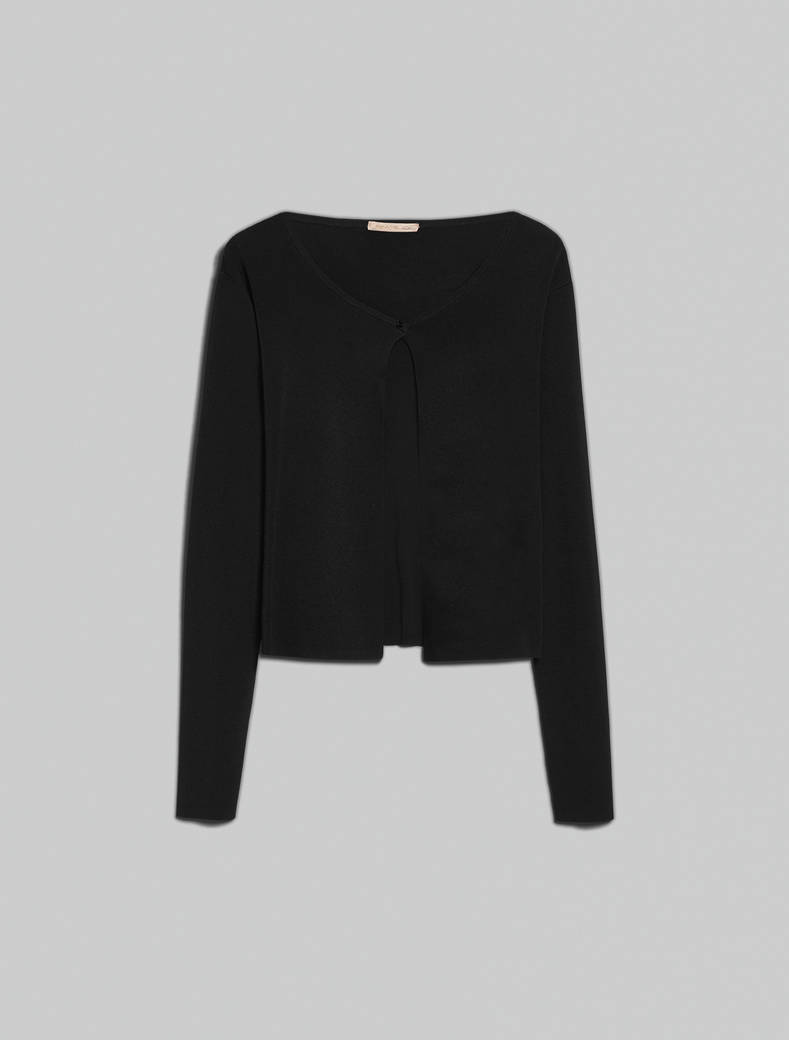 Cardigan with bijou button - black - pennyblack