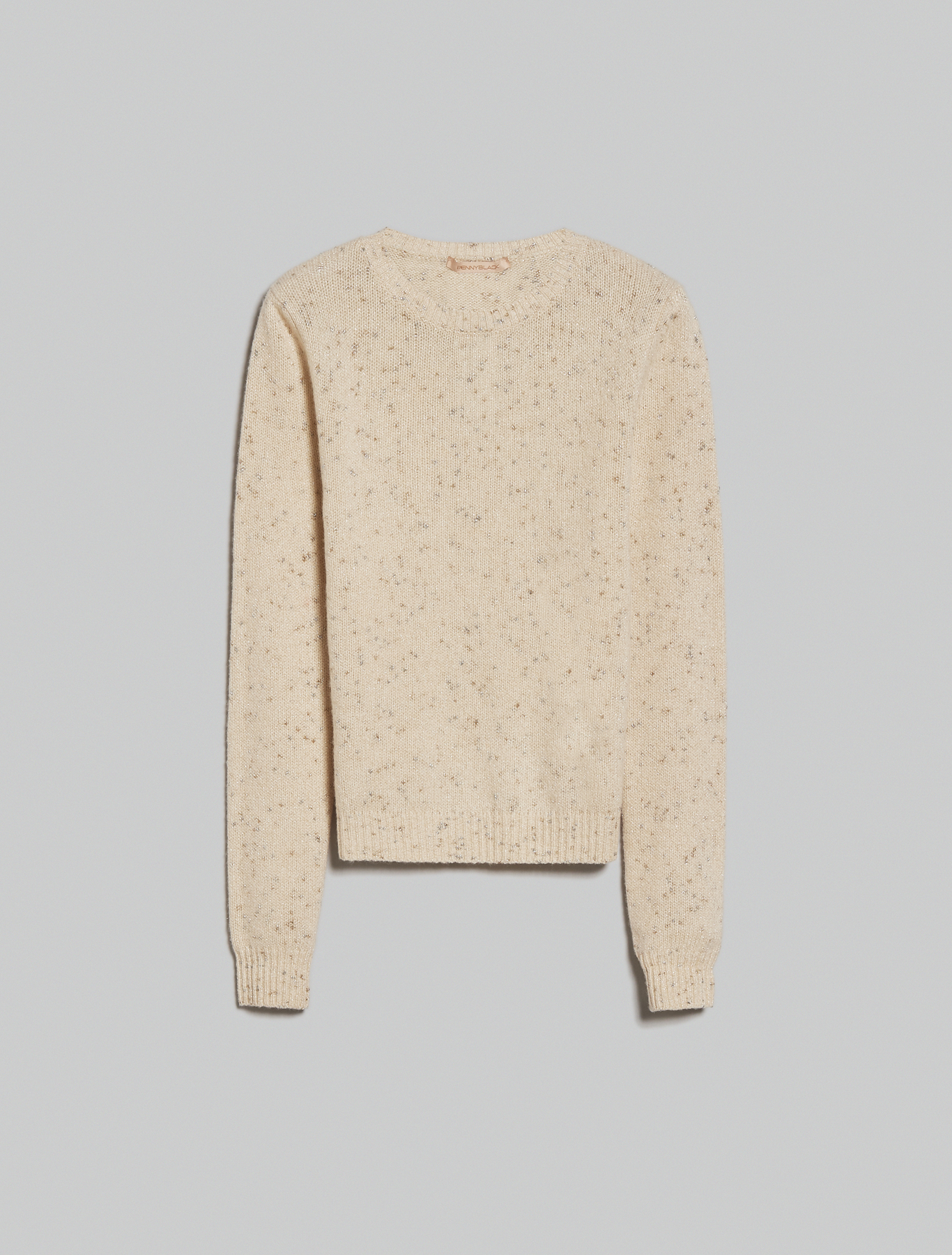 Lamé wool-cashmere jumper - ivory - pennyblack