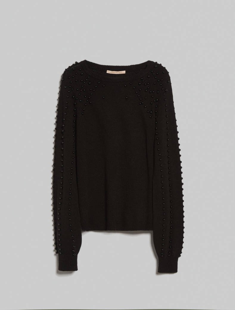 Jumper with embroidered beads - black - pennyblack