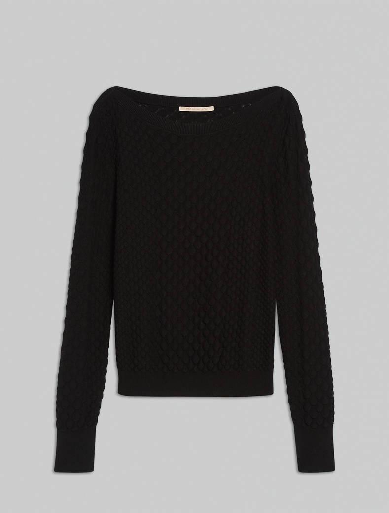 3D jacquard jumper - black - pennyblack