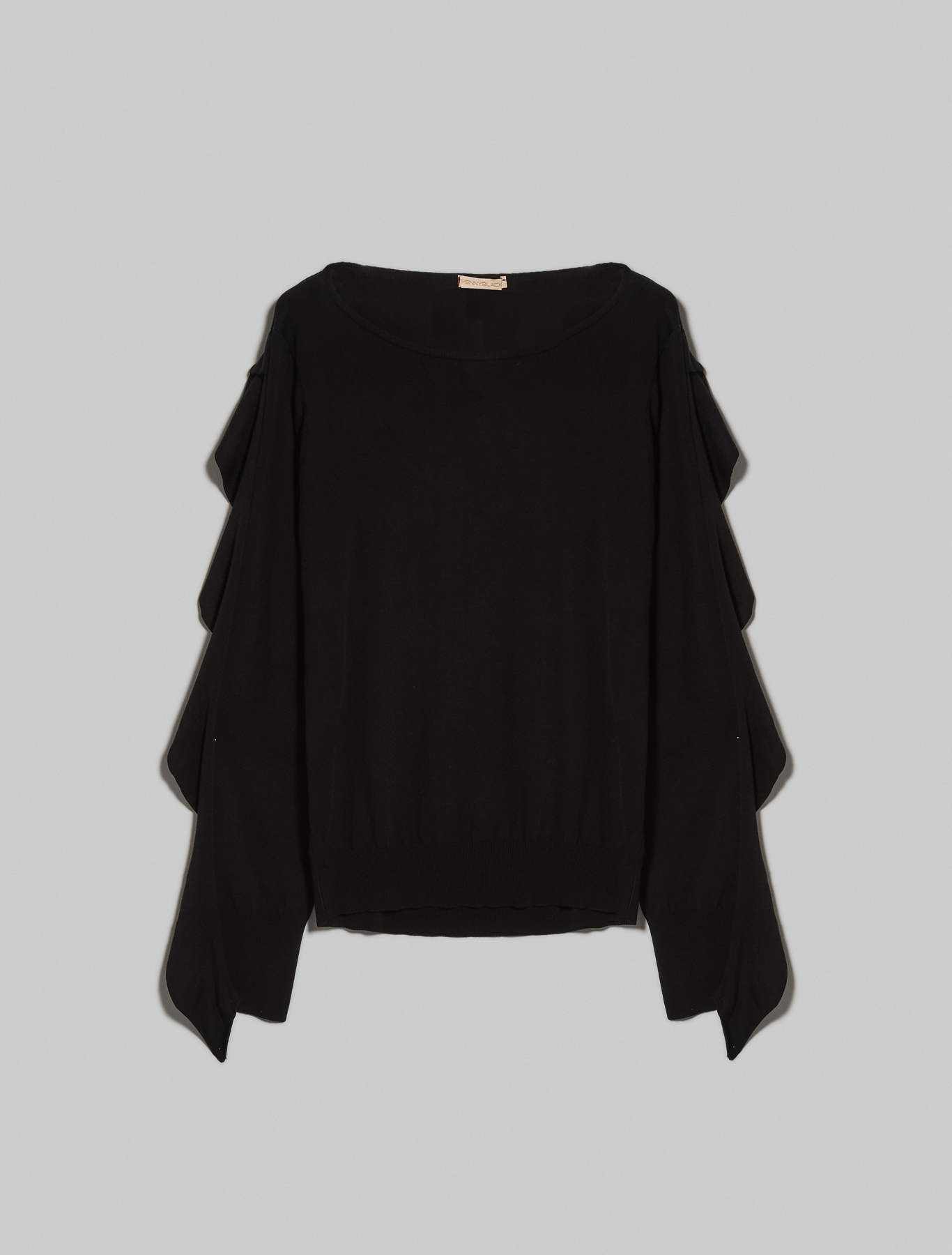 Jumper with ruffles - black - pennyblack
