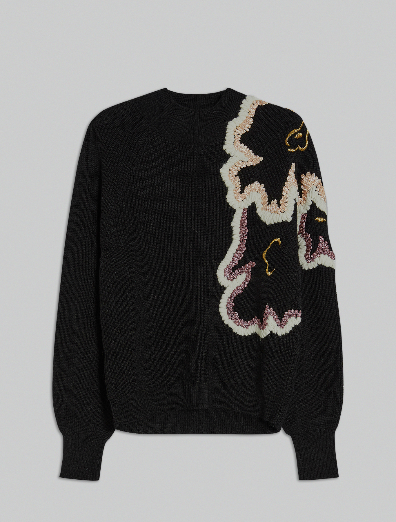 Electric Feel by Spiros Halaris embroidered jumper - black - pennyblack