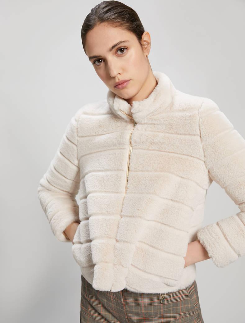 Giacca in peluche - bianco avorio - pennyblack