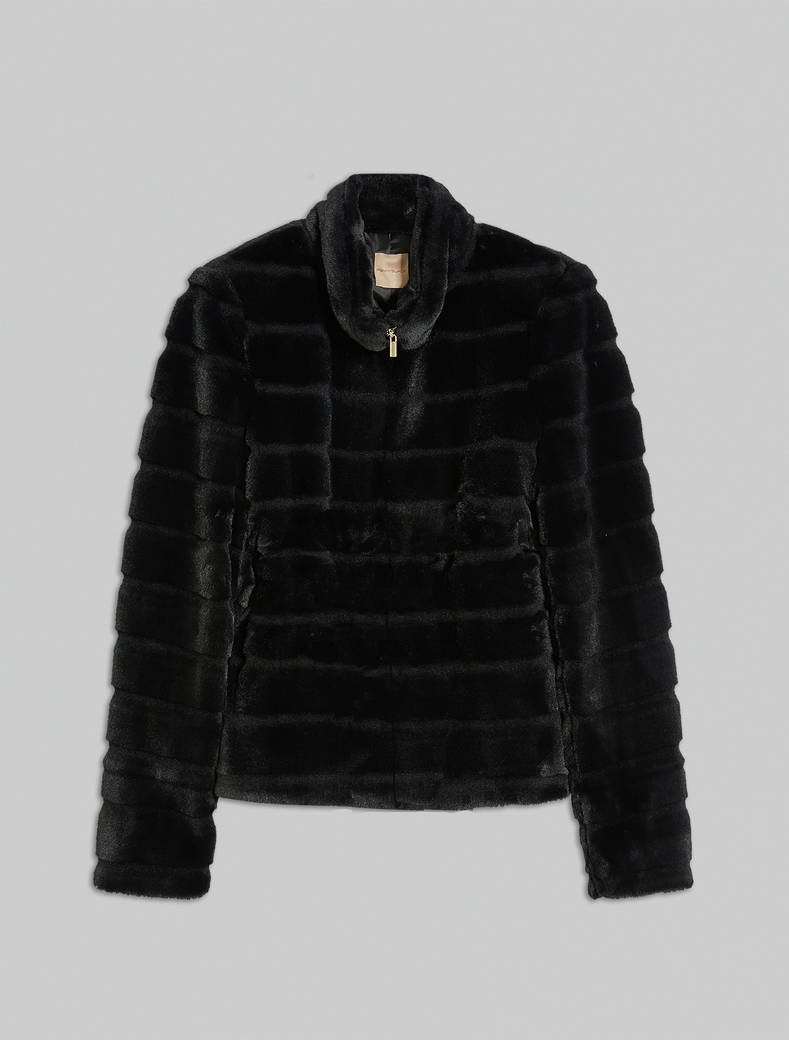 Plush jacket - black - pennyblack