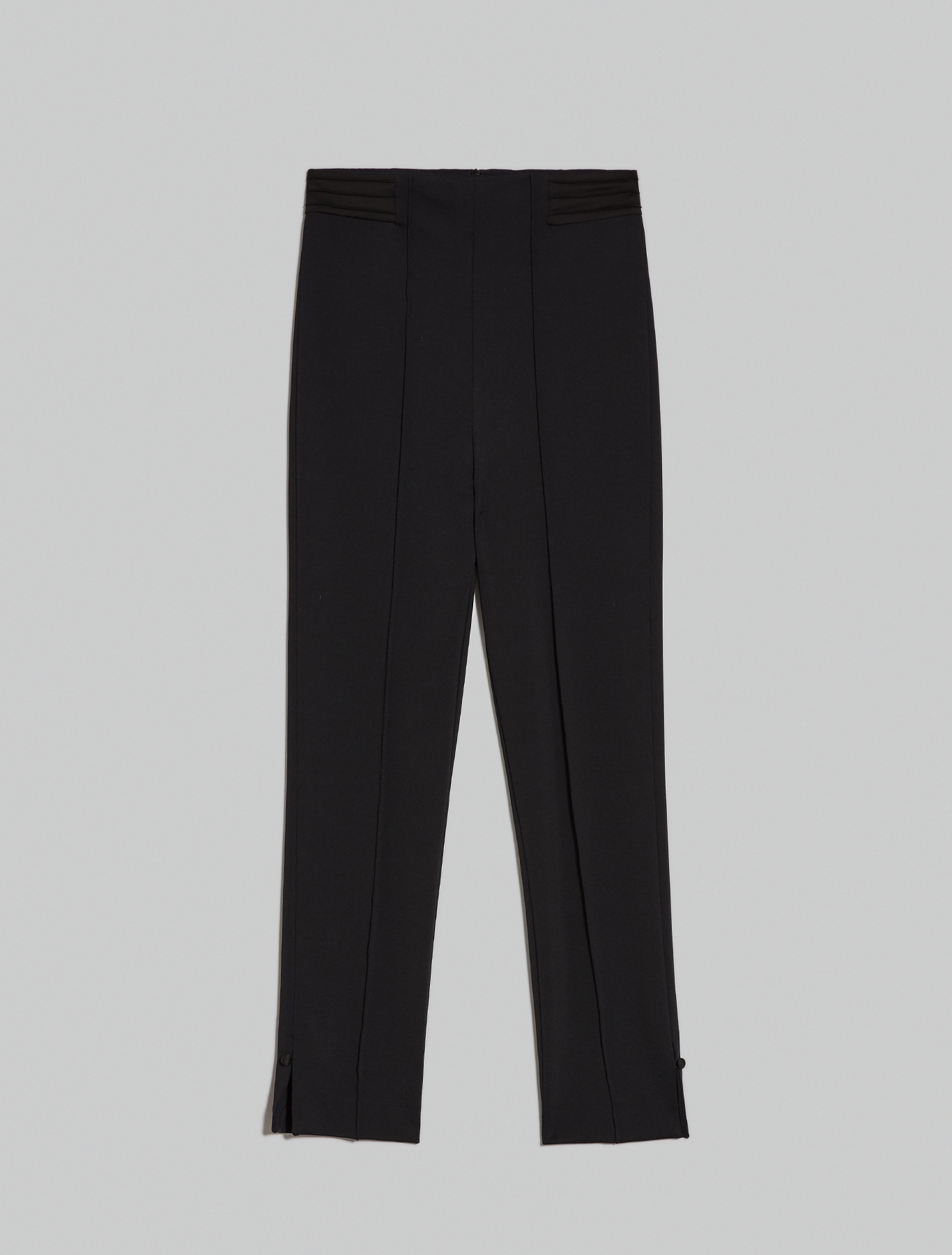 Skinny-fit jersey trousers - black - pennyblack