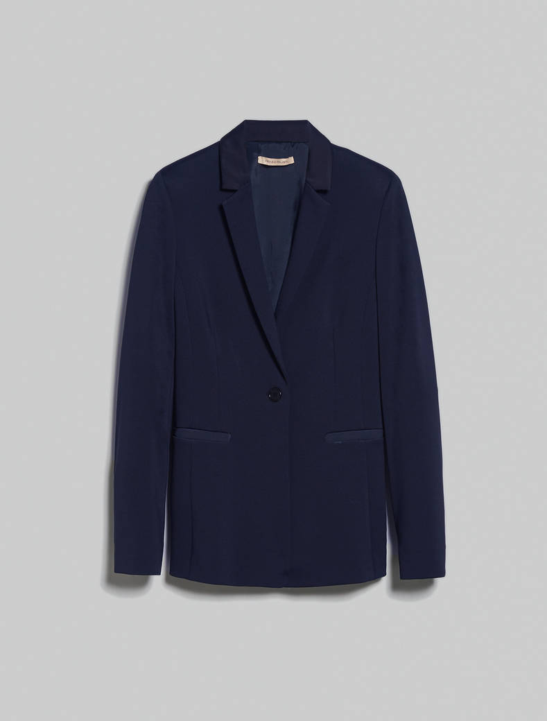 Slim-fit jersey blazer - navy blue - pennyblack