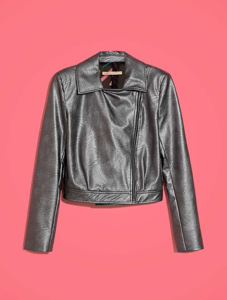 Electric Feel by Spiros Halaris biker jacket - anthracite - pennyblack