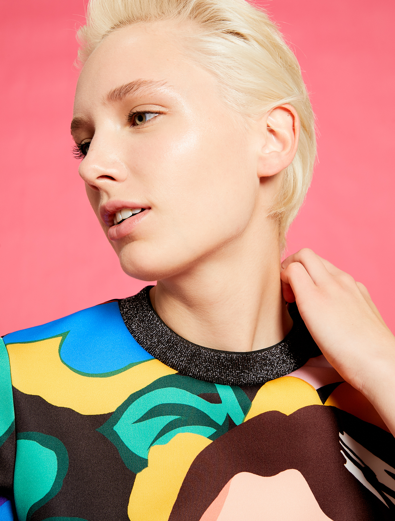 Electric Feel by Spiros Halaris printed sweatshirt - pale yellow pattern - pennyblack