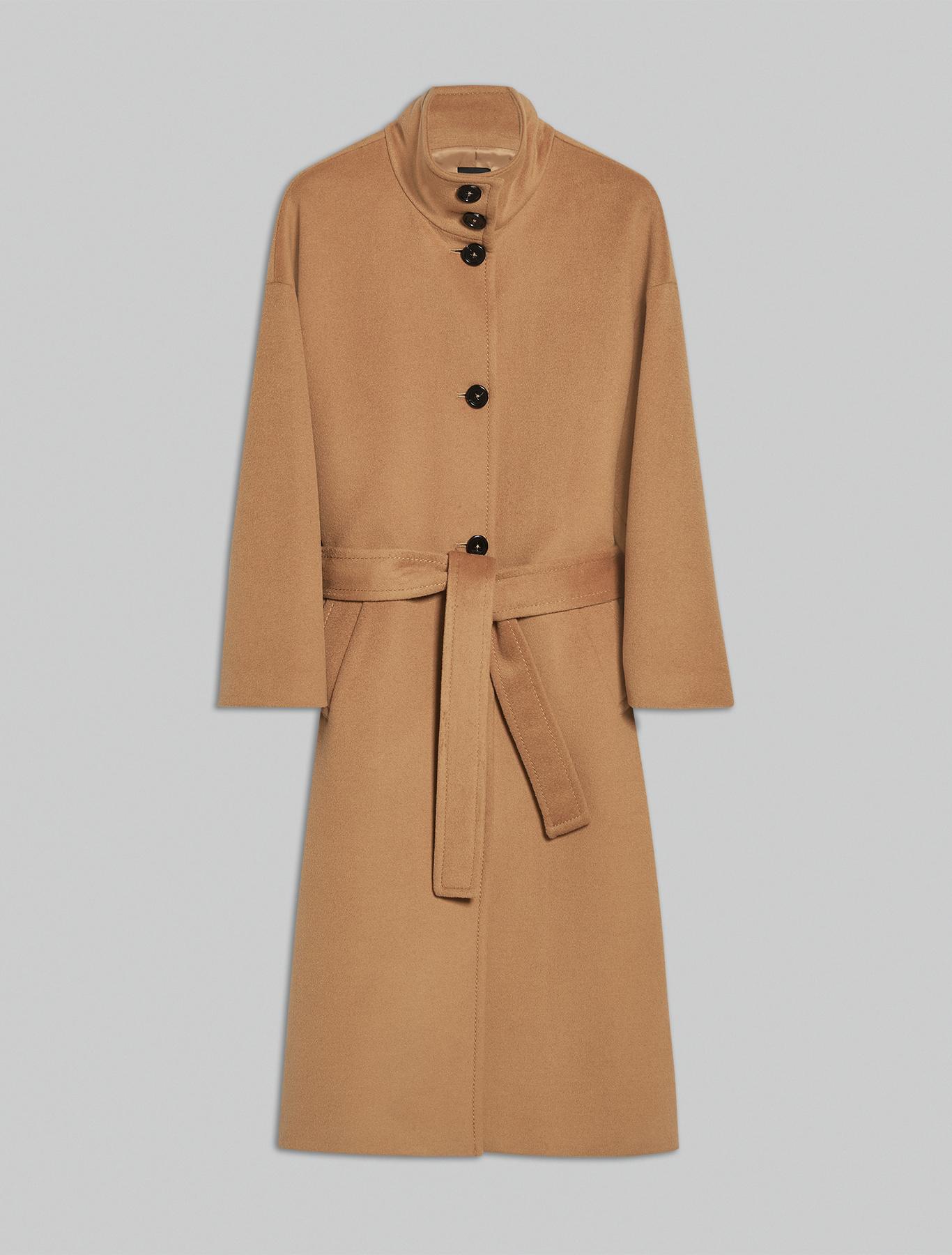 Wool velour coat - camel - pennyblack