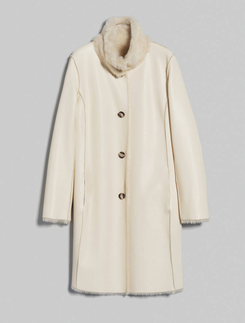 Reversible teddy bear coat - ivory - pennyblack