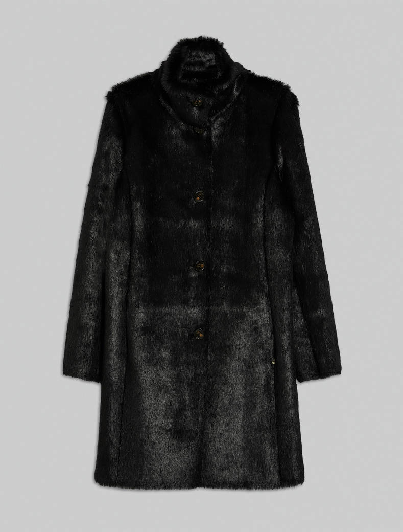 Reversible teddy bear coat - black - pennyblack