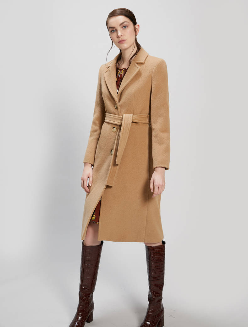 Alpaca and wool coat - beige - pennyblack