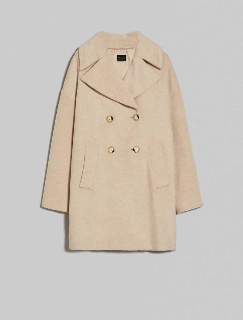 Alpaca blend coat - beige - pennyblack