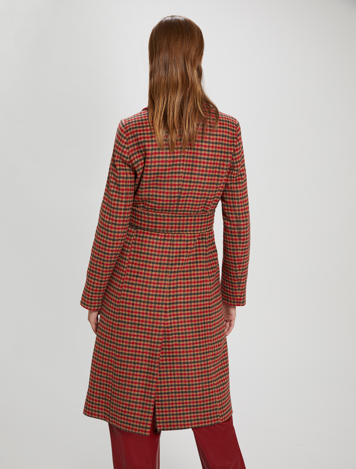 Checked coat - camel pattern - pennyblack