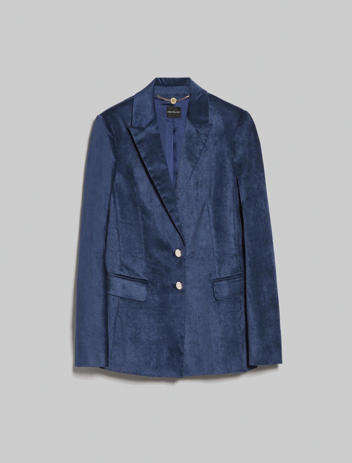 Velvet blazer - midnight blue - pennyblack