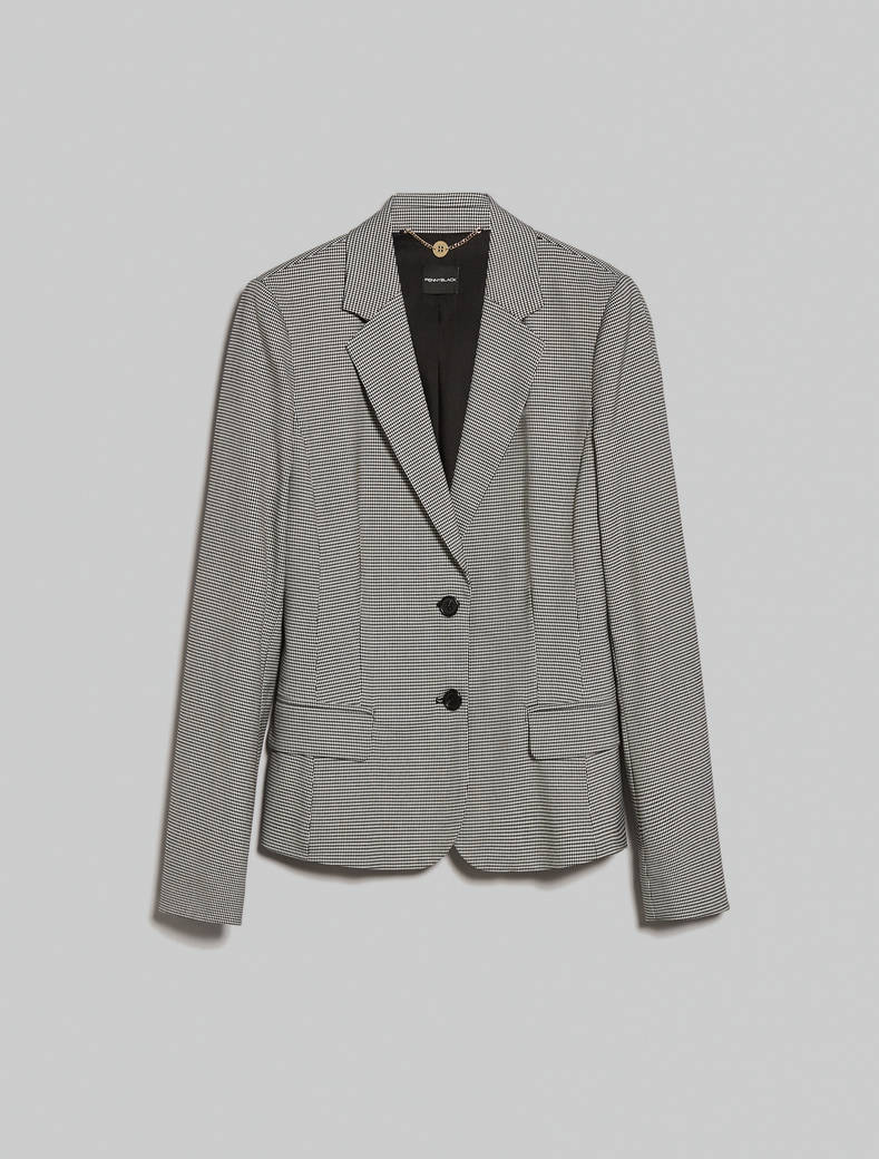 Houndstooth blazer - white pattern - pennyblack