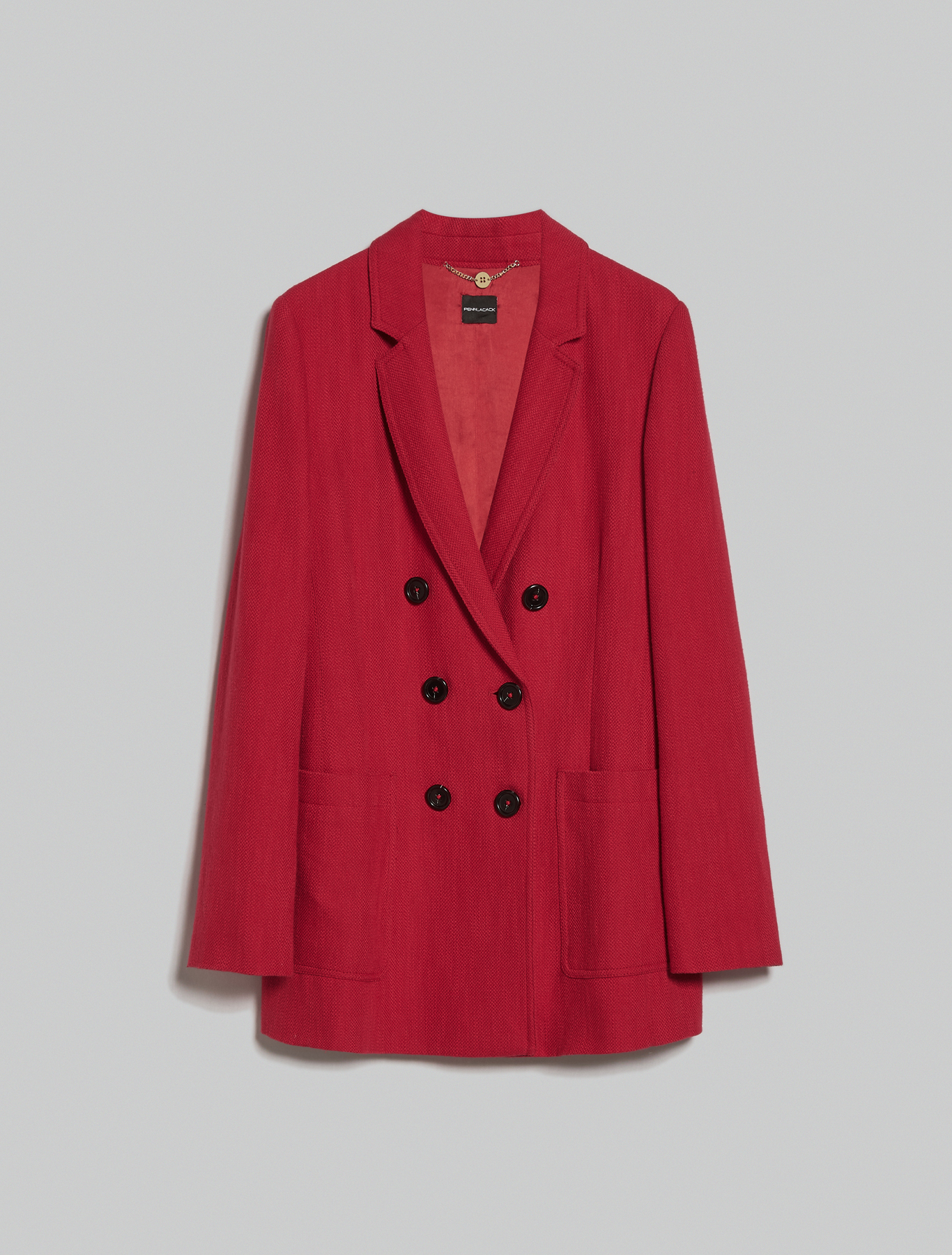 Basketweave blazer - red - pennyblack