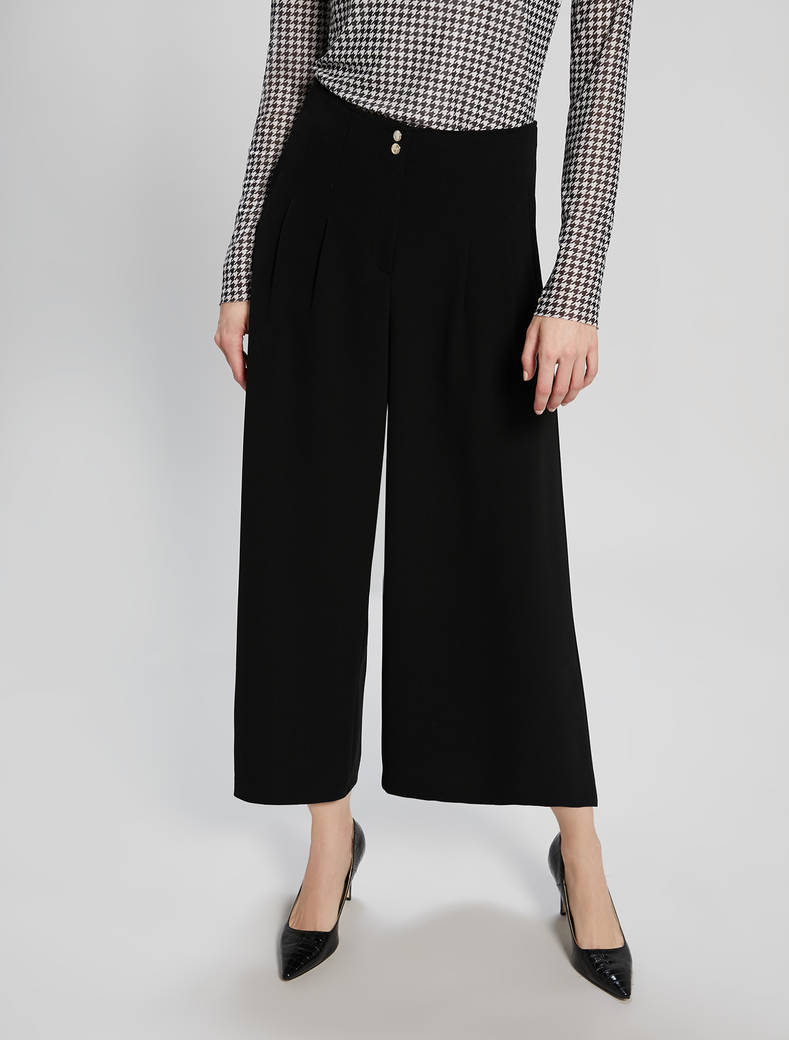 Flowing culottes - black - pennyblack