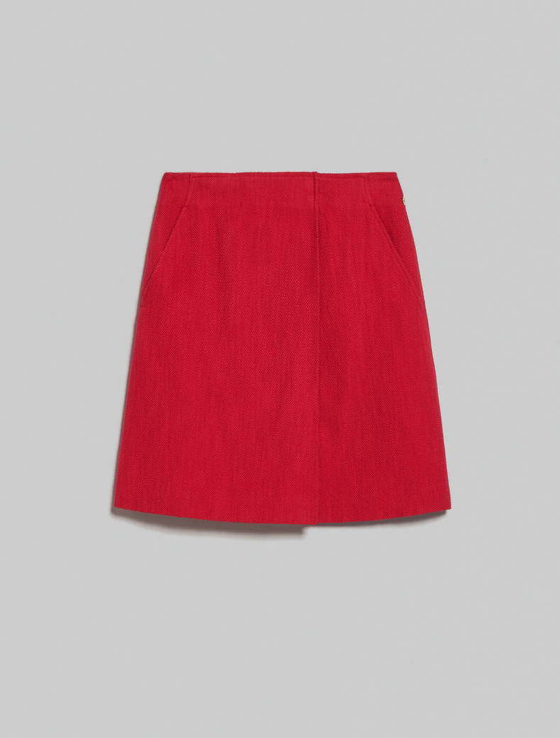 Basketweave skirt - red - pennyblack