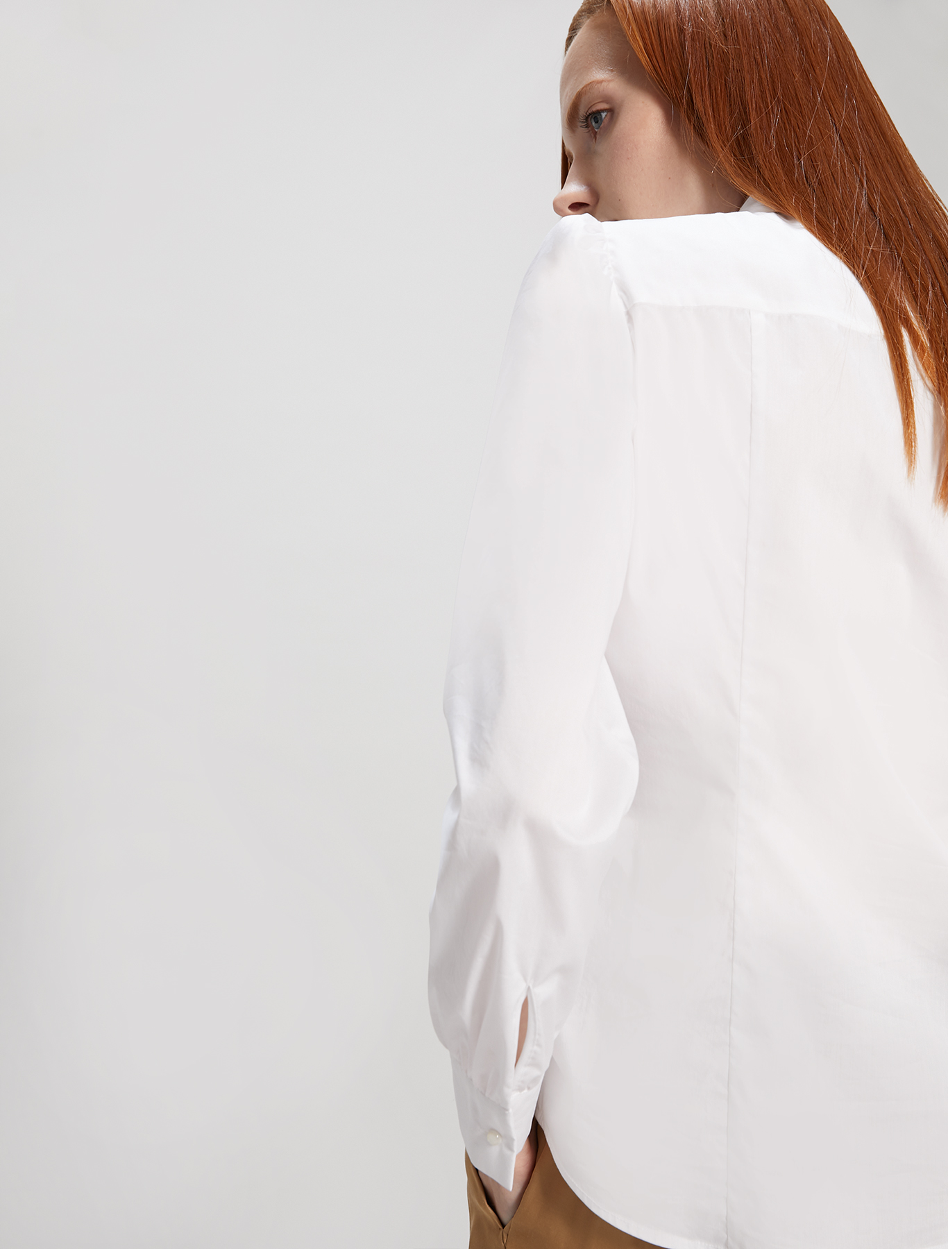 Shirt with plastron and ruffles - optic white - pennyblack