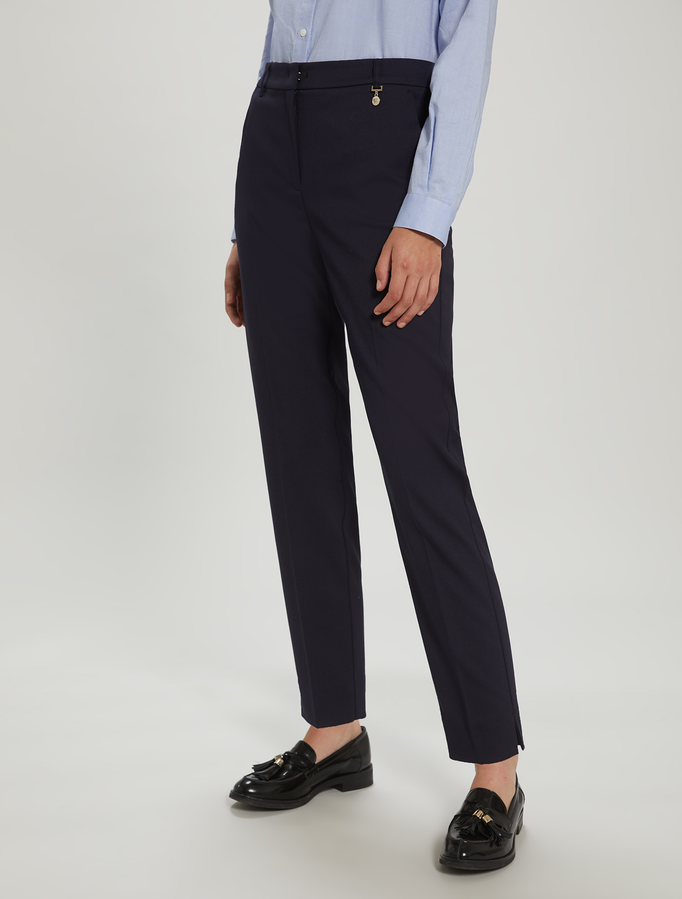 Slim-fit trousers - midnight blue - pennyblack