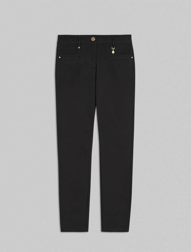 Skinny-fit tricotine trousers - black - pennyblack
