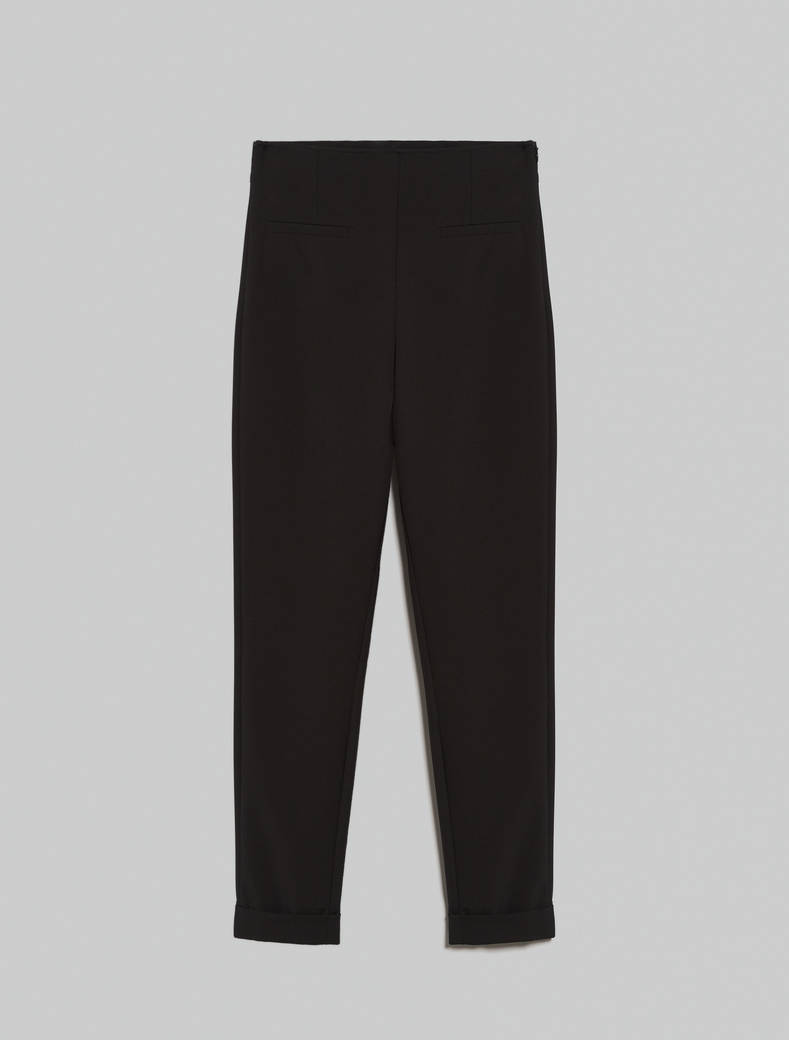 Technical fabric skinny trousers - black - pennyblack
