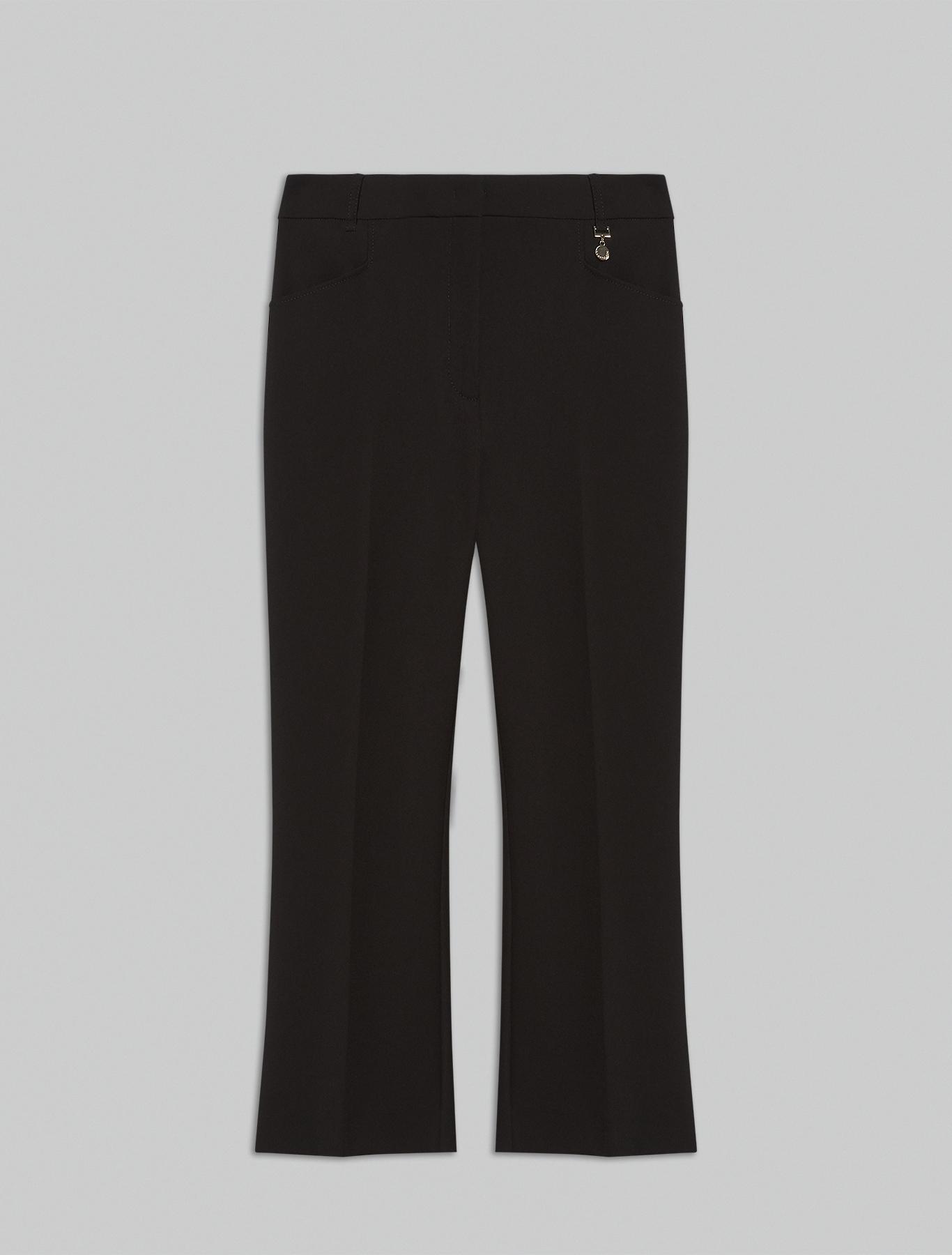 Kick-flare trousers - black - pennyblack