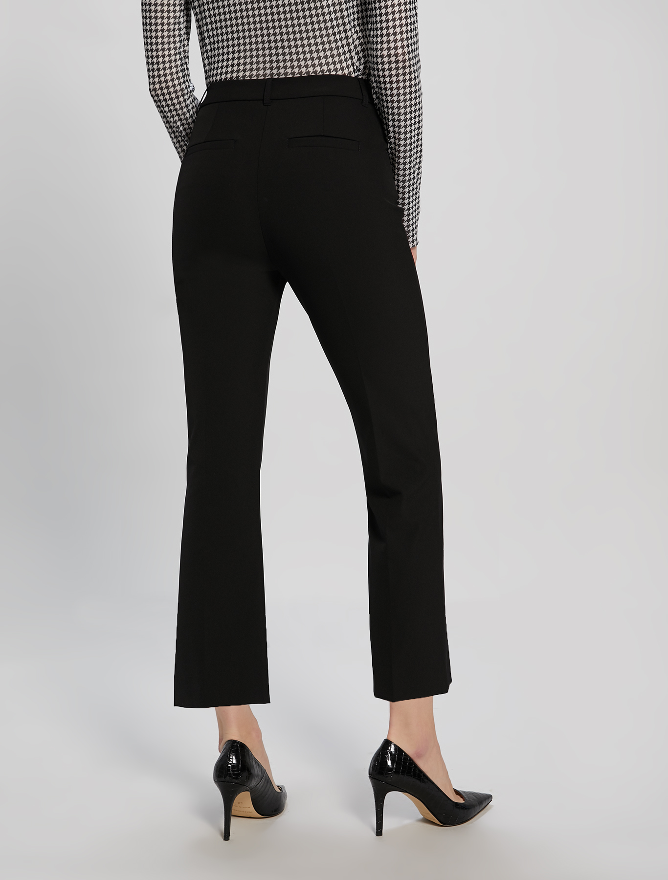 Kick-flare trousers - black - pennyblack